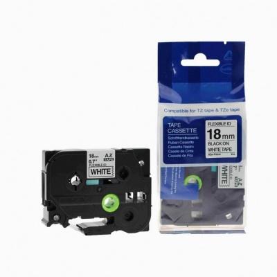 Brother TZ-FX241/TZe-FX241, 18mm x 8m, flexi, black / white, compatible tape