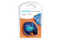 Dymo LetraTag 91204, S0721640, 12mm x 4 m, black text/green tape, original tape