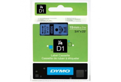 Dymo D1 45806, S0720860, 19mm x 7m, black text / blue tape, original tape