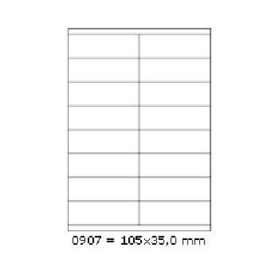Selfadhesive labels 105 x 35 mm, 16 labels, A4, 100 sheets