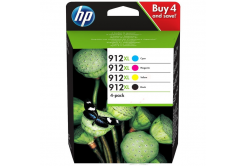 HP 912XL 3YP34AE Bk+C+M+Y multipack original ink cartridge