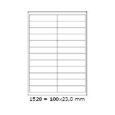 Samolepicí etikety 70 x 74,2 mm, 12 etiket, A4, 100 listů