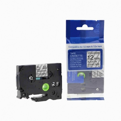 Brother TZ-S131/TZe-S131 12mm x 8m extr.adh. black / clear, compatible tape