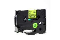 Brother TZ-C41/TZe-C41, signální 18mm x 8m, black / yellow, compatible tape