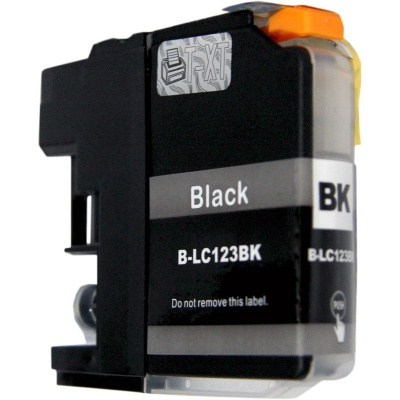 Brother LC-123 black compatible inkjet cartridge