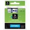 Dymo D1 40914, S0720700, 9mm x 7m, blue text / white tape, original tape