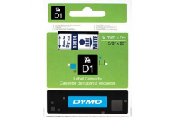 Dymo D1 40914, S0720700, 9mm x 7m, blue text / white tape, original tape