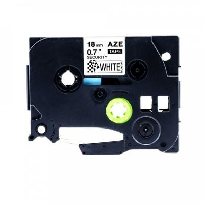 Brother TZ-SE4/TZe-SE4, 18mm x 8m security, black / white, compatible tape