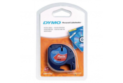 Dymo LetraTag 91203, S0721630, 12mm x 4m, black text/red tape, originální pásk