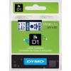 Dymo D1 45804, S0720840, 19mm x 7m, blue text/white tape, original tape