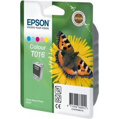 Epson C13T016401 color original ink cartridge