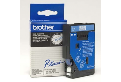 Brother TC-293, 9mm x 7,7m, blue text / white tape, original tape
