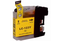 Brother LC-123 yellow compatible inkjet cartridge