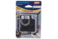 Dymo D1 16958, S0718050, 19mm x 3.5m, black text/white tape, original tape