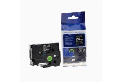 Brother TZ-355 / TZe-355, 24mm x 8m, white / black, compatible tape