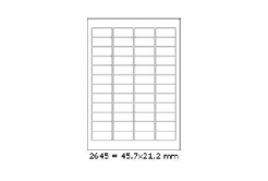 Selfadhesive labels 45,7 x 21,2 mm, 48 labels, A4, 100 sheets