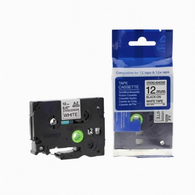 Brother TZ-S231/TZe-S231 12mm x 8m extr.adh. black / white, compatible tape