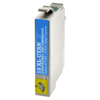 Epson T1812 XL cyan compatible inkjet cartridge