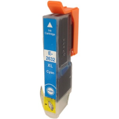 Epson T2632 XL cyan compatible inkjet cartridge