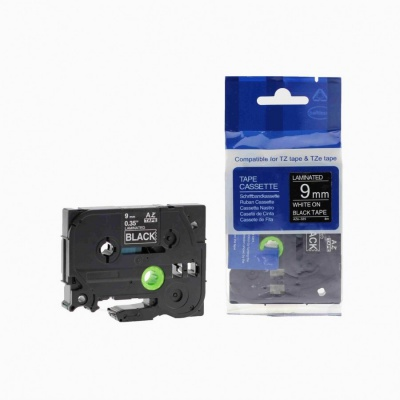 Brother TZ-325 / TZe-325, 9mm x 8m, white / black, compatible tape