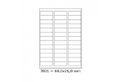 Selfadhesive labels 64 x 21 mm, 39 labels, A4, 100 sheets