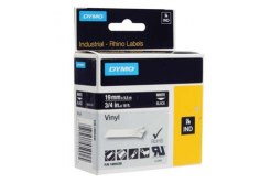 Dymo Rhino 1805436, 19mm x 5,5m, white text/black tape, original tape