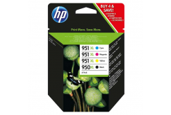 HP original ink cartridge C2P43AE, HP 950XL + HP 951XL, cyan/magenta/yellow/black, 1500/2300 pages, 4 pcs HP Officejet 6100, 6600, 6700, 7100