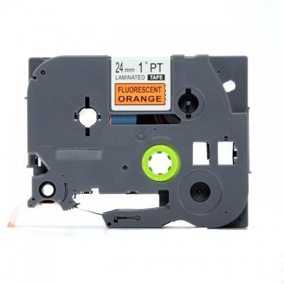 Brother TZ-B51/TZe-B51, signální 24mm x 8, black / orange, compatible tape