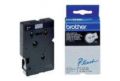 Brother TC-101, 12mm x 7,7m, black text / clear tape, original tape