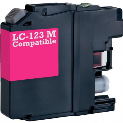 Brother LC-123 magenta compatible inkjet cartridge