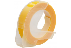 Dymo Omega, 9mm x 3m, white / yellow