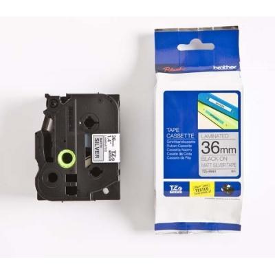 Brother TZ-M961 / TZe-M961, 36mm x 8m, black text/silver tape, original tape