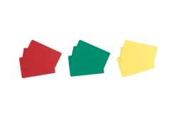 Evolis C4301 100ks CR80 PVC karty, červené