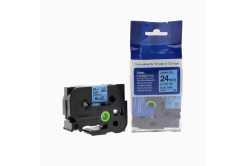 Brother TZ-551 / TZe-551, 24mm x 8m, black / blue, compatible tape