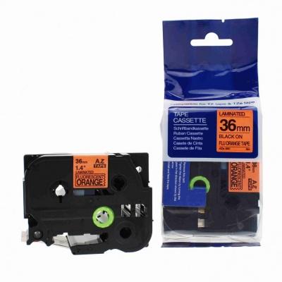 Brother TZ-B61/TZe-B61, signální 36mm x 8m, black / orange, compatible tape