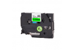 Brother TZ-D31/TZe-D31, signální 12mm x 8m, black / green, compatible tape