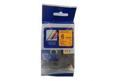 Brother TZ-B11/TZe-B11, signální 6mm x 8m, black / orange, compatible tape