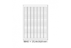 Selfadhesive labels 25,4 x 10 mm, 189 labels, A4, 100 sheets