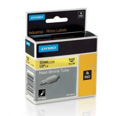 Dymo Rhino 18056, S0718310, 12mm x 1,5m black text / yellow tape, original tape