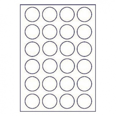 Selfadhesive labels 45 x 45 mm, 24 labels, A4, 100 sheets