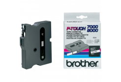 Brother TX-211, 6mm x 15m, black text/white tape, original tape