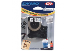 Dymo D1 16959, S0718060, 12mm x 5.5m, black text/white tape, original tape