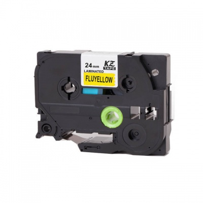 Brother TZ-C51/TZe-C51, signální 24mm x 8m, black / yellow, compatible tape