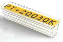 Partex PT+20012A návlečka 12 mm, 100 pcs(4,0 10,0 mm), PT průsvitné pouzdro na štítky