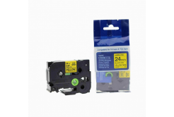 Brother TZ-651 / TZe-651, 24mm x 8m, black / yellow, compatible tape