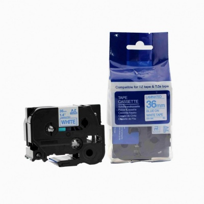Brother TZ-263 / TZe-263, 36mm x 8m, blue / white, compatible tape