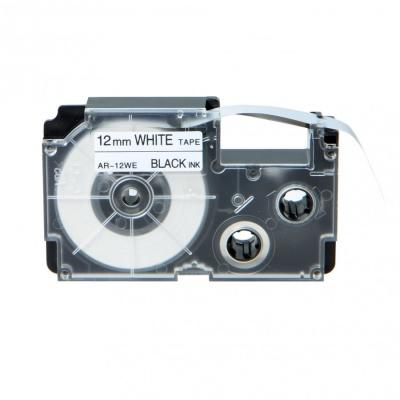 Casio XR-12WE1, 12mm x 8m black / white, compatible tape
