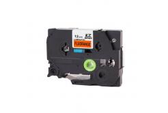 Brother TZ-B31/TZe-B31, signální 12mm x 8m, black / orange, compatible tape