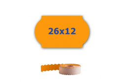 Cenové etikety do kleští, 26mm x 12mm, 900ks, signální oranžové