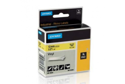 Dymo Rhino 18432, S0718450, 12mm x 5,5m black text / yellow tape, original tape